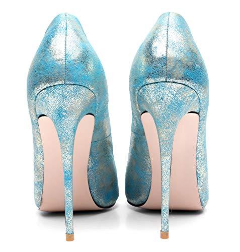 Gold Classico 12cm Donna Da A Seraph High Heels A376 Spillo Tacco Scarpe Col Donna CUnSx1