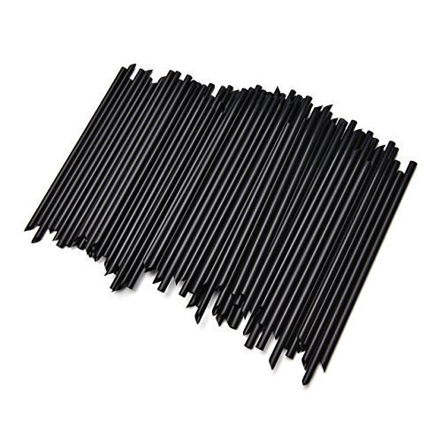 Sipoes, Plastic Stirrer, Sip Stirrer, For Coffee and Cocktail, 5 Inches (Black) (100, Black)