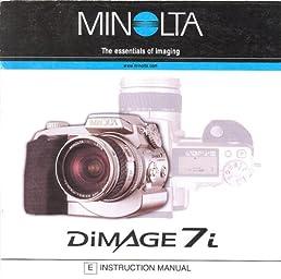 minolta dimage 7i original instruction manual minolta co amazon rh amazon com minolta dimage 7i manual pdf minolta dimage 7 manual