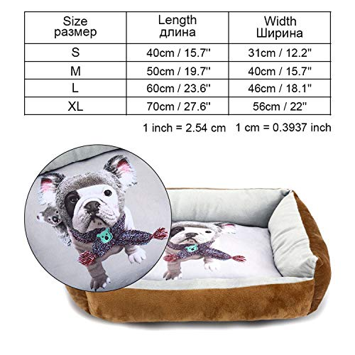 Pet Dog Bed Mats Bench Dog Bed Sofa for Small Medium Large Dogs Puppy Beds Summer Lounger Pet Kennels House for Cat Pet Products,Brown-XR0003,S