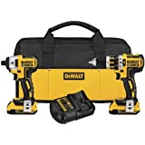 DEWALT DCK286D2 20V MAX XR Lithium-Ion Brushless Compact Hammerdrill and Impact Driver Combo Kit