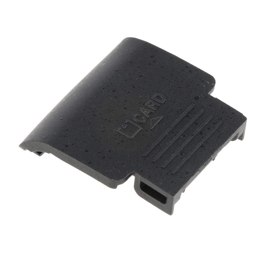 perfk Profesional Cubierta de Recambio Tapa de Tarjeta SD Repuesto de Sustitució n Compatible para Cá mara Digital Nikon D3000 D3100 - Negro