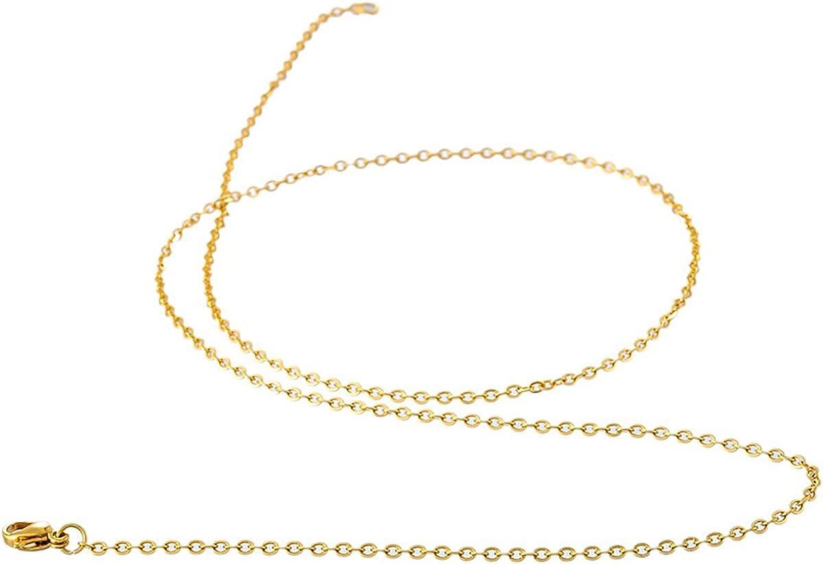 17,71 27,55 Pulgadas para Hombres y Mujeres KY Jewelry Collar de Cadena de Acero Inoxidable de 2,5 3,5 mm