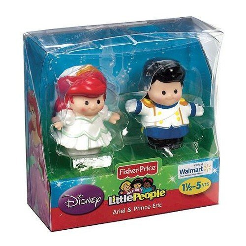 Fisher-Price Little People Disney 2 Pack: Ariel and Prince Eric Exclusive (Ariel Eric And Mattel)