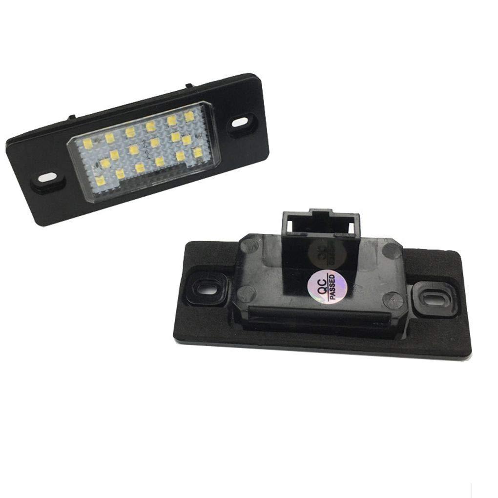 Pour Cayenne Touareg/Tiguan / / Passat 1 paire Licence LED 240ml plaque Accessoire é clairage voiture Topker