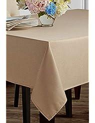 "Benson Mills Beauvalle Extra Wide Spillproof Tablecloth (68"" X 120"" Rectangular, Flax)"