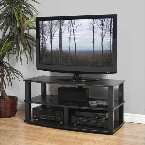 Plateau XT-V3 44 BB Wood veneer and Metal TV Stand, 44-Inch, Black Oak Finish -