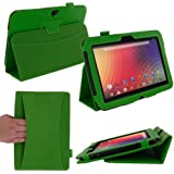 rooCASE Google Nexus 10 Dual Station Folio Case Cover - Support Landscape / Typing Stand / Auto Sleep and Wake