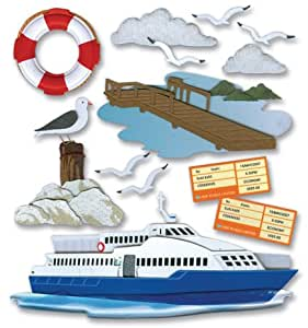 Jolee's Boutique Dimensional Stickers-Ferry Trip