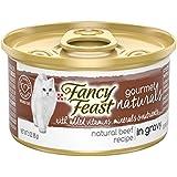 Purina Fancy Feast Gourmet Naturals Grain Free Tender Beef Recipe in Gravy Adult Wet Cat Food - (12) 3 oz. Cans
