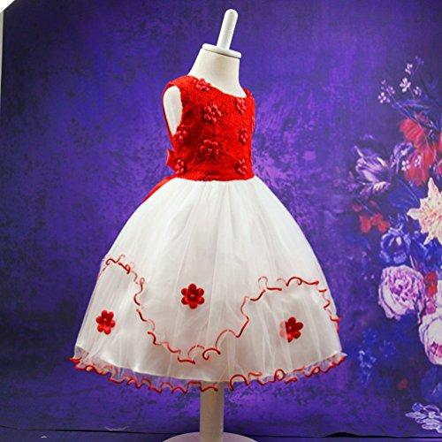 WanYang Mädchen Sommer Chiffon Sleeveless Kleid Kinder Festlich ...