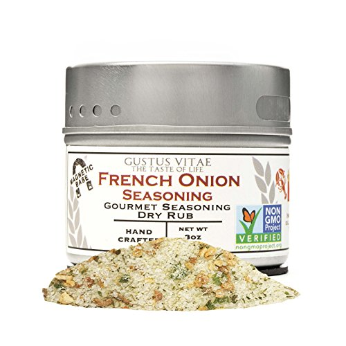 Gourmet French Onion Soup - French Onion Seasoning | Gourmet Spice Mix | Non GMO Project Verified | All Natural | Sustainably Sourced | 3 oz | Magnetic Tin | Gustus Vitae