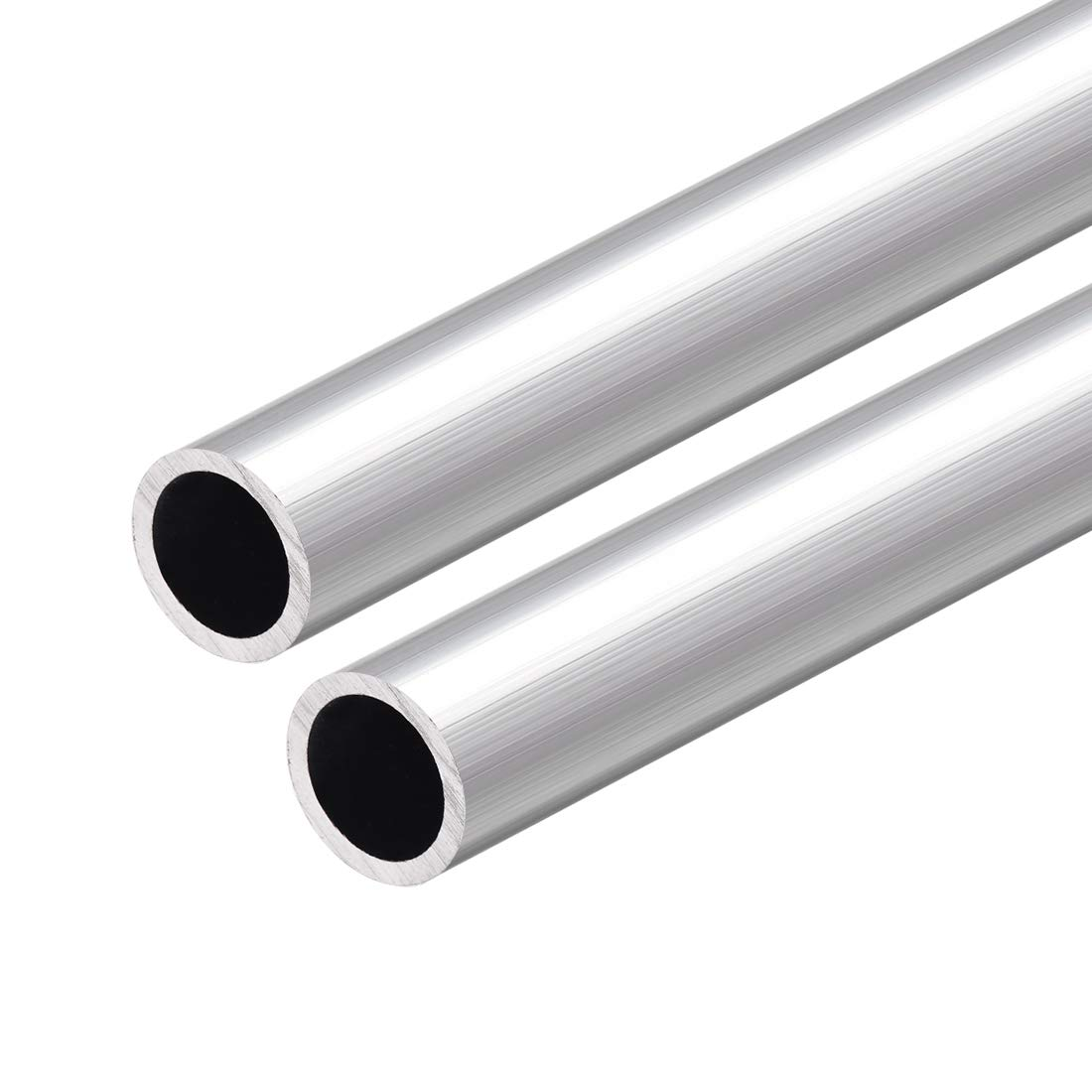 sourcing map 6063 Aluminum Round Tube 300mm Length 18mm OD 11mm Inner Dia Seamless Aluminum Straight Tubing 2 Pcs