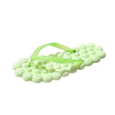 TWBB Mode Frauen Sandalen Sommer Massage Flache Slipper Ferse Anti-Rutsch Strand Schuhe