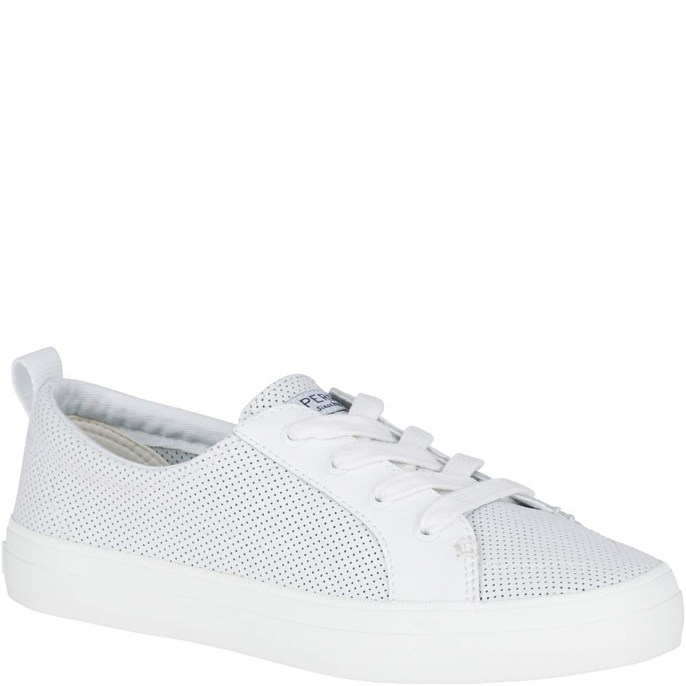 Sperry Top-Sider Crest Vibe Mini Perforated Sneaker Women 6 White