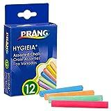 Prang Hygieia Chalk, 3.25 x .375 Inch Chalk Sticks, 12 Count, Assorted Colors (61400)