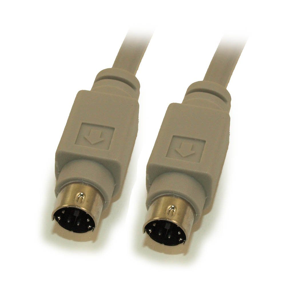 MyCableMart 25ft Mini-Din 6Pin Male to Male for Keyboard or Mouse by My Cable Mart