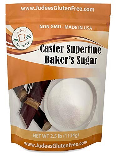 (Judee's Superfine Caster Baker's Sugar (2.5 lbs) Non-GMO ~ Made in USA ~ Packaged in a Gluten and Nut Free)
