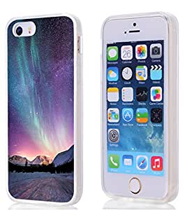 Iphone SE Case, SE/5S/5 Case magic dreamlike purple aurora sky