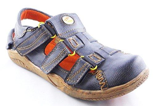 TMA Schuhe 1343 Sandalette Ballerina Gr.36-42 echt Leder mit perforiertem Lederfußbett in Schwarz Gr. 36