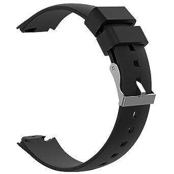 Bracelet de Montre Trendyest Bracelet en Silicone Sangle de Remplacement pour ASUS ZenWatch 3 (Noir