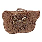 Disney Parks Loungefly Rose Gold Minnie Mouse Sequin Fanny Pack