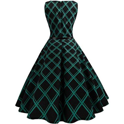 de vestido fiesta bodycon de noche Mujer vestido Verde Cocoty mangas flores VintageCuadros La vestido de casual sin mujer z6v6axwq7