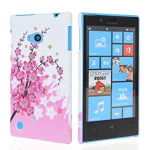 GETLAST Pretty Flower Butterfly Doodle Pattern Plastic Hard Back Case Cover + Screen Protector For Nokia Lumia 720 37