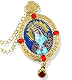 Catholic Orthodox Icon Pendant Mother of God St Mary Our Lady of the Stars 3 1/2 Inches