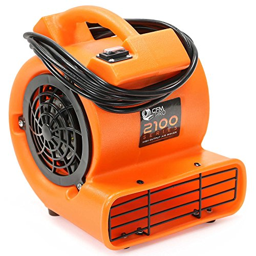 CFM PRO Mini Air Mover Carpet Floor Dryer 1/12 HP Blower Fan - Orange - Water Flood Damage - Blower Floor