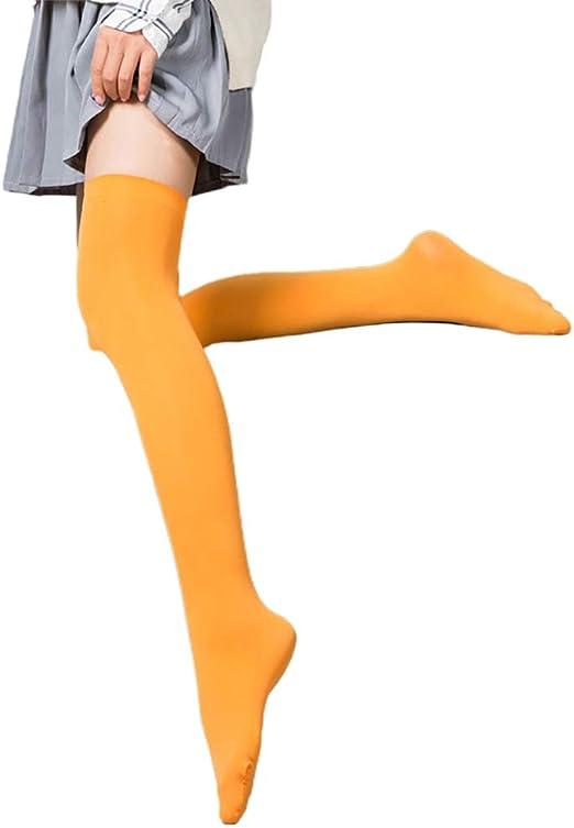 Hihey Calcetines Largos hasta la Rodilla Calcetines de algodón ...