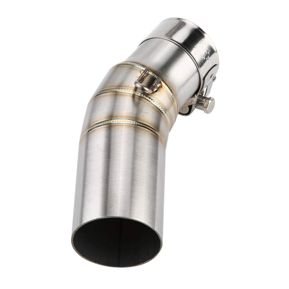Exhaust Middle Mid Link Pipe for NINJIA 400 18-19 Exhaust Middle Pipe,EBTOOLS Motorcycle Exhaust Link Pipe Stainless Steel,Motorcycle Accessory