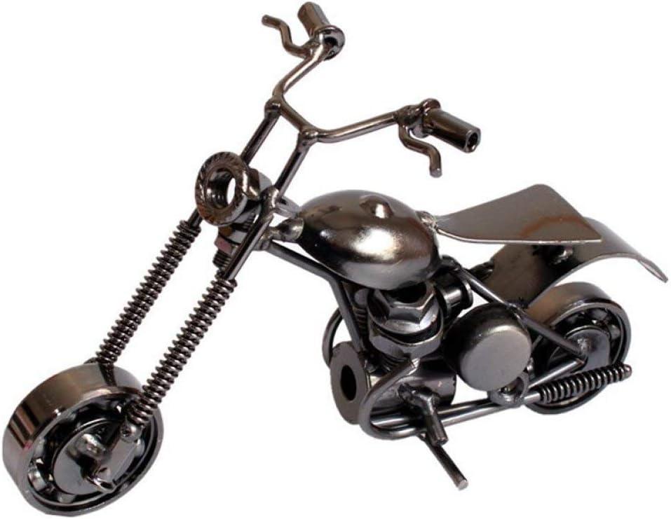 MAIAMY Clásico Moto Escultura Metal Hierro Arte Estatua Motocicleta Artesanía Decoración del hogar Regalo