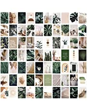 Bluetit 70 Pcs Wall Collage Kit Aesthetic Pictures Plants Photo Wall Decorations,Double-Sided Printing with Boho Aesthetic Photo on The Back Cottagecore Room Decor for Bedroom -4x6 inch