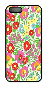 Cool Design Lilly Pulitzer Printed Hard Plastic Case Shell Cover for iphone 5c Black PC Material