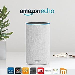 Amazon Echo (2ème génération), Enceinte connectée avec Alexa, Tissu sable 8
