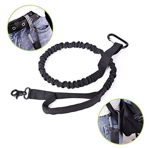 new Nasus Tactical Dog Collar and Leash Set, Adjustable Military Training Nylon Collar and Heavy Duty Bungee Lead with Soft Cover Control Handles, Quick Release Buckle for Dogs Daily Walks