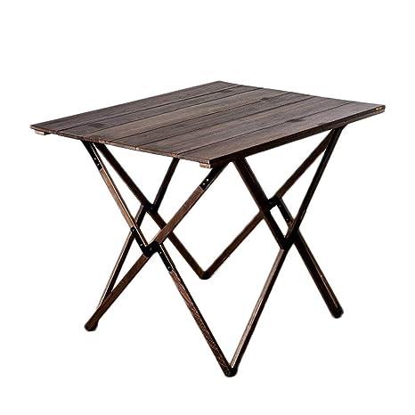 Amazon.com: Mesa plegable de madera maciza de teca para ...