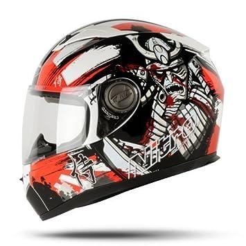 Nitro Samurai Casco De Moto Negro/Rojo - Mediano