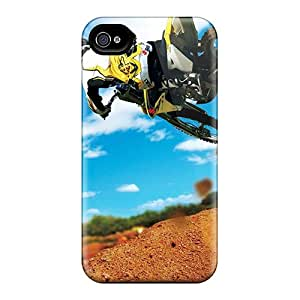 Special SUNY Skin Case Cover For Iphone 4/4s, Popular Motocross Jump Phone Case