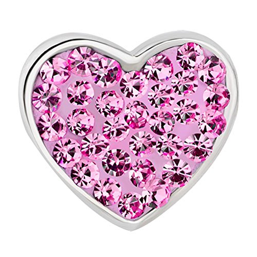 Valentine's Day Pink Heart I Love You Charms Beads for Charm Bracelets ()
