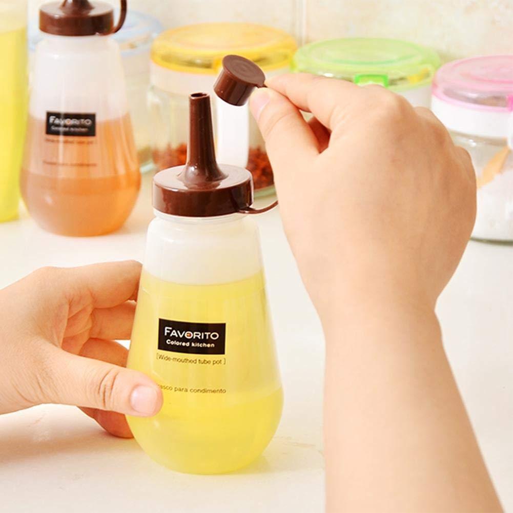 Amazon.com - 250ml Plastic Condiment Squeeze Bottle Transparent Kitchen Cruet Dispenser -Perfect for Ketchup, BBQ, Sauces, Syrup -
