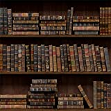 CSFOTO 4x4ft Background For Old Library Bookshelf Photography Backdrop Seamless Shelf Bookshop Bookcase Vintage Classic Literature Retro Wood Research Hardcover Student Studio Props Wallpaper
