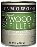 FamoWood 36021128 Original Wood Filler - Pint, Oak/Teak