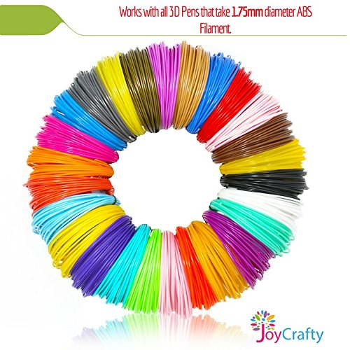 26pc 3D Pen Filament Refills - 1.75mm ABS 520 Linear Feet (20 foot each) Total 26 Different colors fun pack. 6 Glow In The Dark Colors.