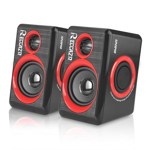 Multimedia Drive Usb - Surround Computer Speakers With Deep Bass USB Wired Powered Multimedia Speaker for PC/Laptops/Smart Phone RECCAZR Built-in Four Loudspeaker Diaphragm