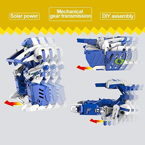gouxia74534 DIY Transforming Solar Robot Toy Puzzle para niños 3 en 1 modelo eléctrico hecho a mano: Amazon.es: Bebé
