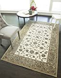 """Rugs America RV100A Area Rug, 2'7″ x 4'11"""", Ivory Tan Review"""