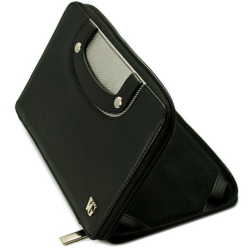 Black Portfolio Book-style Case Fits Kindle Fire 7 with Handle by BPC