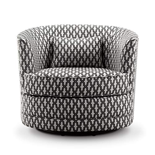 Rosevera SH-H6 Hearst Swivel Accent Chair, Chestnut Brown